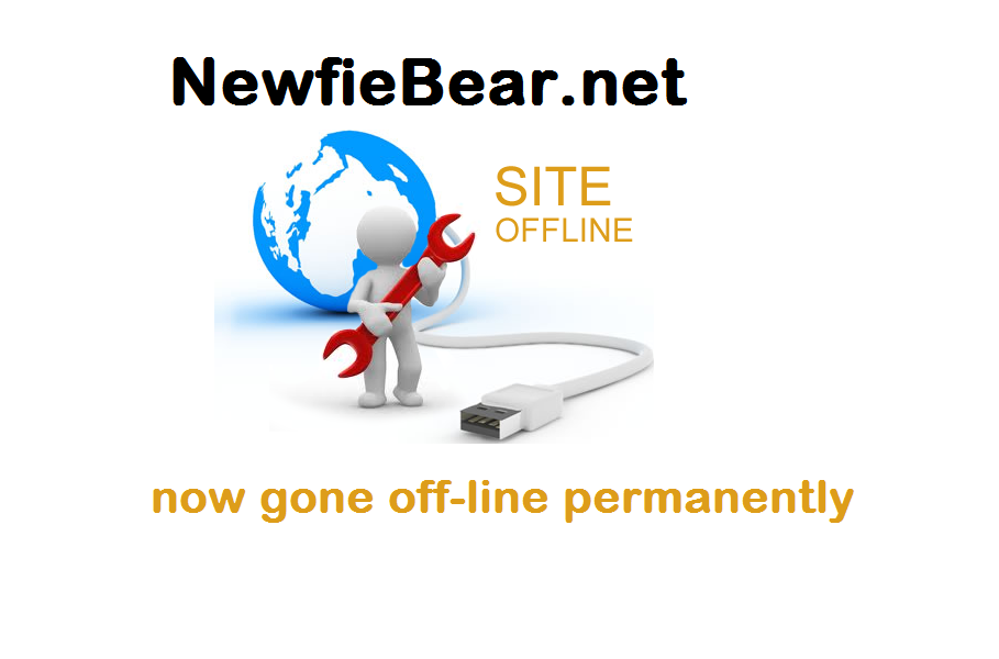 NewfieBear.net now gone off-line